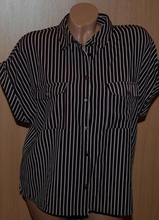 Блуза принтованая бренда new look  / приспущены плечи /