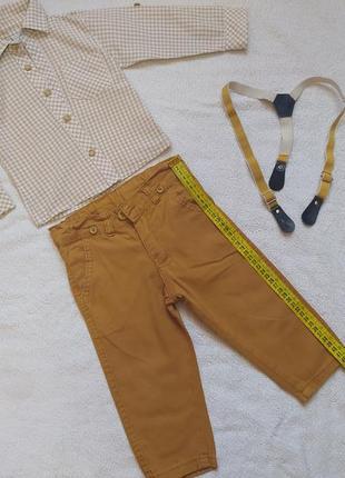 Нарядный костюм комплект рубашка и штаны на мальчика на 1 год годик