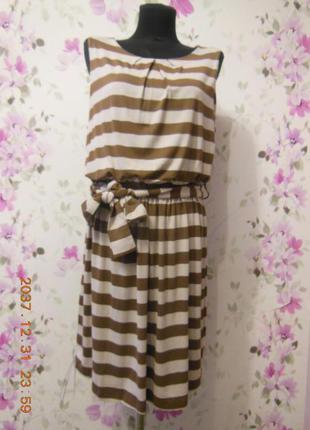 Милейшее платье в полоску с напуском на талии