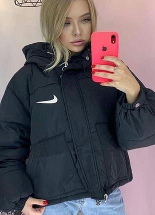 Куртка черная плащевка  nike осенняя распродажа