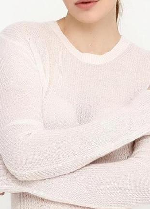 Тоненький вязанный джемпер, свитер h&m с шерстью.