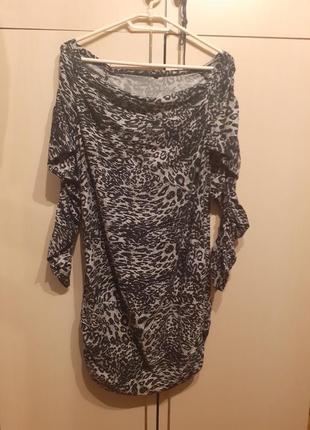 Платье с леопардовым принтом tu