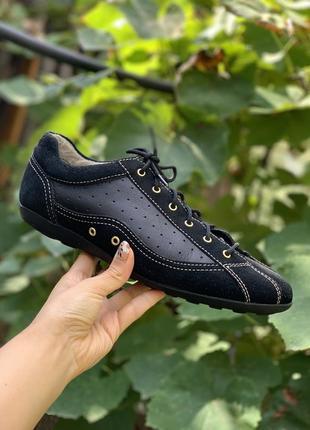 Кожаные стильные туфли / кроссовки geox 39р