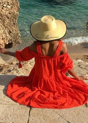 Шикарное брендовое платье сарафан из натуральной ткани