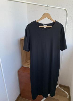 Платья чёрное трикотажное