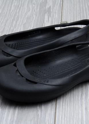 Crocs черные  размер 38 черные балетки крокс