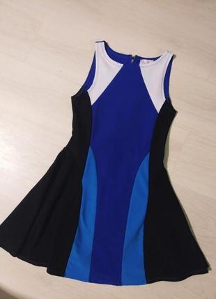Красивое платье синее черное голубое