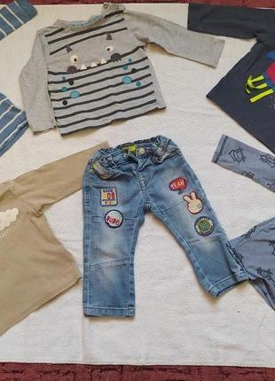 Лот одежды на мальчика (джинсы и регланы)