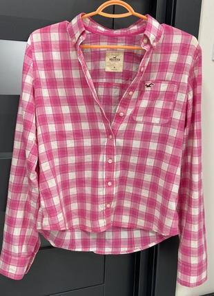 Хлопковая рубашка hollister