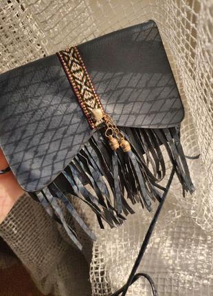 Клатч сумка-кошелек с бахромой