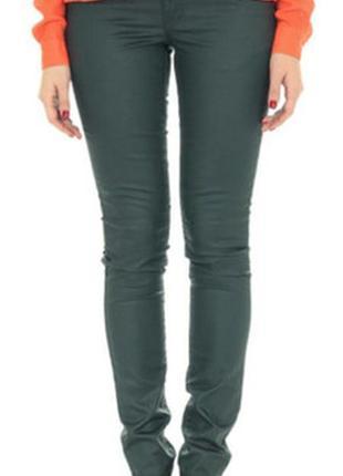 Бутылочные джинсы скинни под кожу от vila,м и  л.