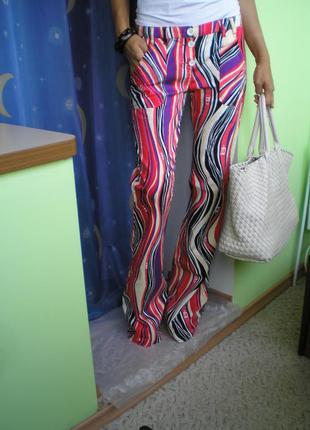 Цветные штаны клеш