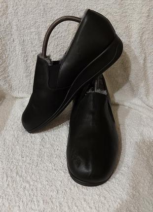 Тапки мокасины marke biekamp 41p черные кожаные