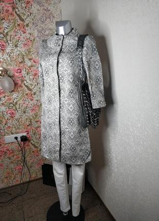 Демисезонное пальто от zara#3/4 рукав#серебро