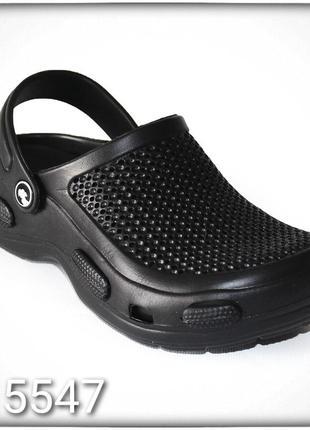 Жіноче взуття сабо чорні крокси  женская обувь кроксы. черные сабо