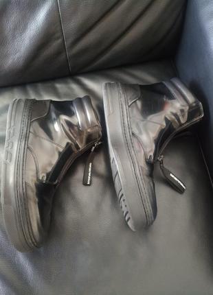 Хайтопы, ботинки, высокие кроссовки на молнии кожа 42 43 27,3