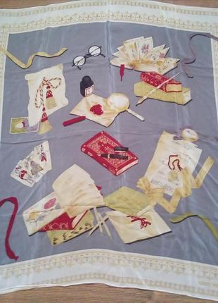 Шёлковый платок vintage gerry weber silk scarf