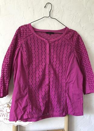 Блуза комбинированная прошва батальный размер