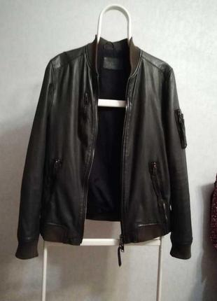 Мужская брендовая кожаная куртка allsaints
