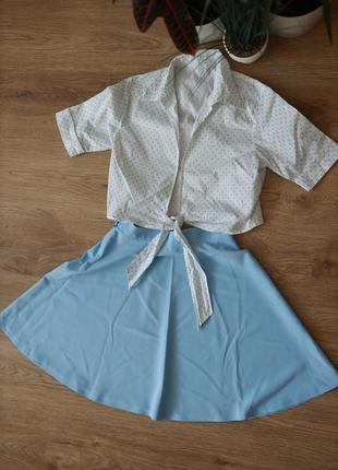 Летний женский костюм нежно голубого цвета😍
