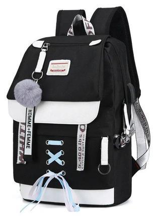 Качественный школьный рюкзак для девочки с usb-портом