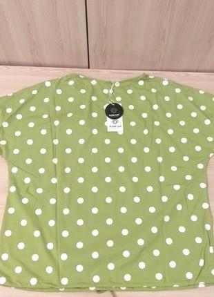 Лонгслив футболка горох зелёный