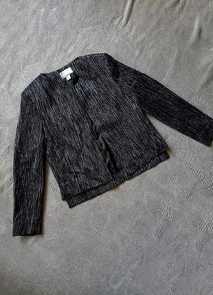 Нарядный эффектный блестящий пиджак с шерстью в стиле шанель h&m