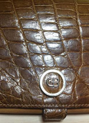 Шикарная сумка из кожи крокодила