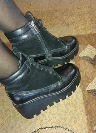 Кожані ботинки