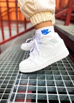 "Кроссовки nike air jordan 1 mid ""white"""