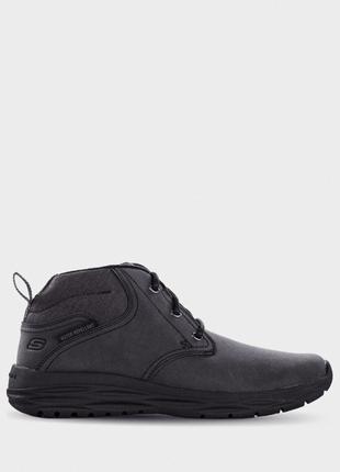 Мужские кожаные ботинки skechers, р.42,45, не промокают