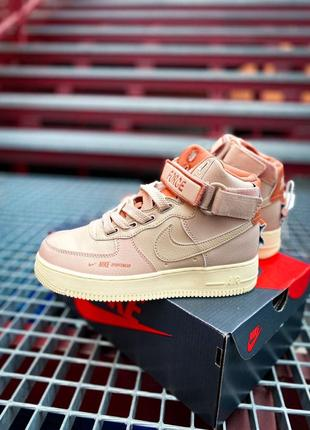 "Кроссовки nike air force 1 high ""utility pink"""