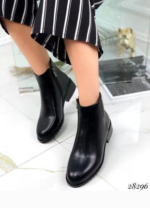 Стильные демисезонные ботинки, сапоги, сапожки на низком ходу, челси