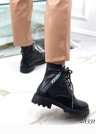 Ботинки зимние на тракторной подошве спереди на шнуровке, сапоги, сапожки, хит