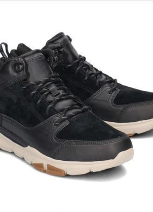 Мужские кожаные ботинки skechers, р.41,42