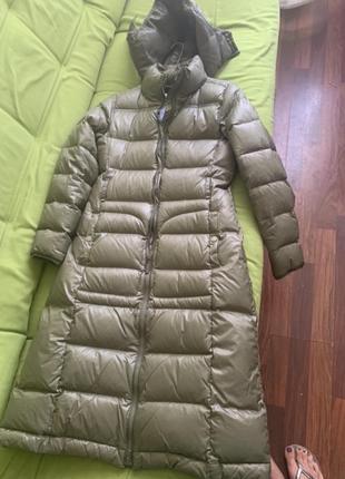 Пуховик benetton/пальто на пуху/зимняя куртка/ стильная парка