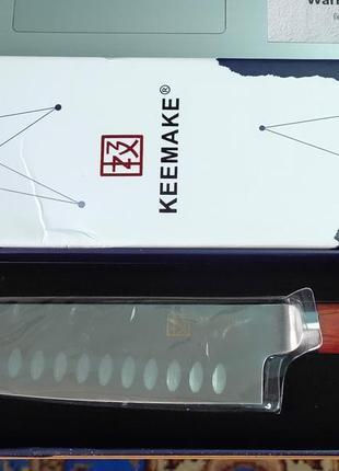 """Кухонный профессиональный нож keemake 7""""/santoku."""
