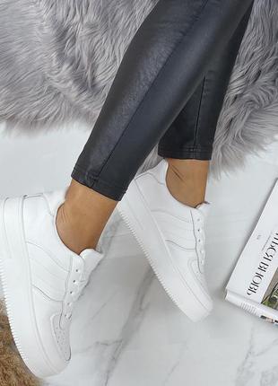 Кроссовки кеды белые супер удобные все размеры