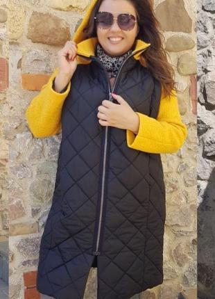 Стильное пальто большие размеры