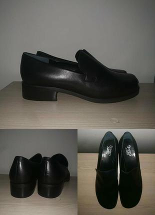 Туфли 42-43 р кожаные лоферы стильные