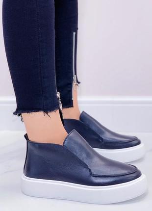 Ботинки-лоферы кожа