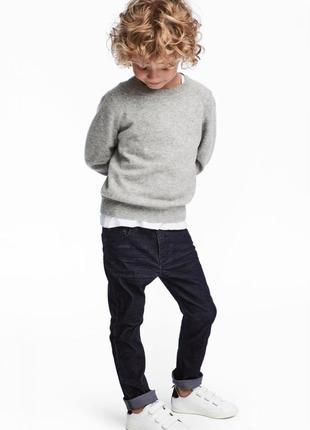 Вельветовые брюки h&m 0501119001 синего цвета