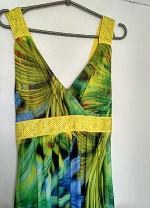 Шикарное длинное платье