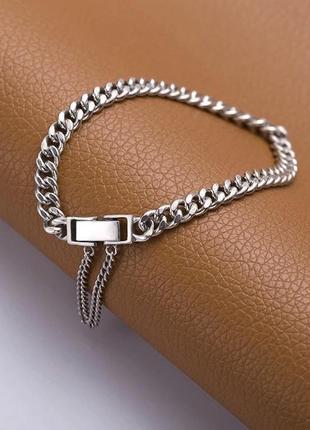 Очень крутой браслетик , серебро