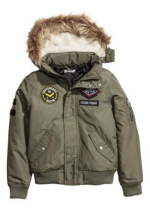 Куртка h&m 05964430072 зеленого цвета