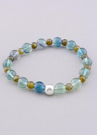 Браслет 'sunstones' флюорит серебро(925) 19 см.  0795160