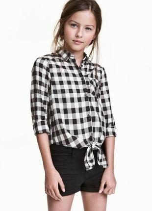 Блузка с узлом h&m 0449118005 черного цвета