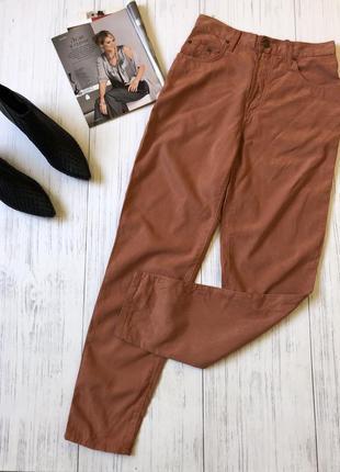 Штаны джинсы мом очень высокая посадка рыжые лиочел 30