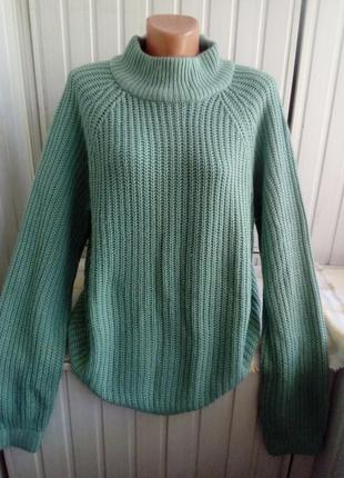 Обьемный свитер джемпер оверсайз