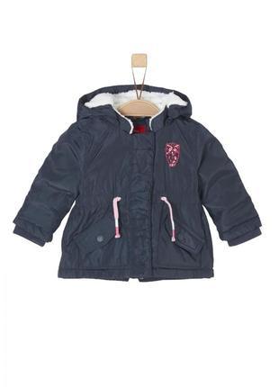 Утепленная куртка s.oliver 59.710.52.6974.5834 синего цвета